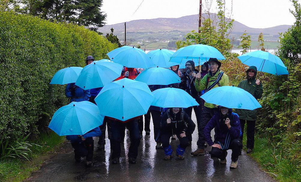 Irland Wandern Spass im Regen