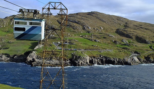 Irland Inselwandern Dursey Island Cable Car