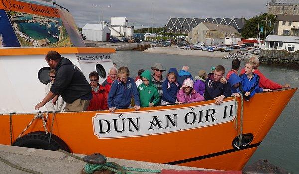 Irland Inselwandern Cape Clear Ferry