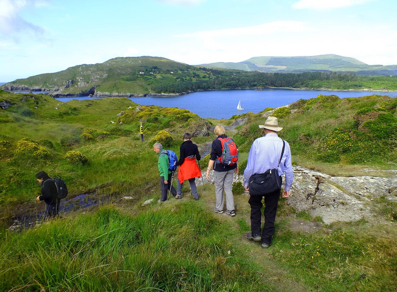 Irland Wandern Gruppe Bere Island