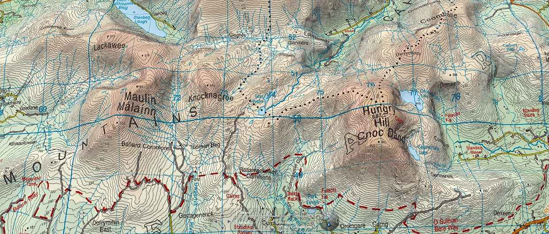 Wanderlust Irland Landkarte